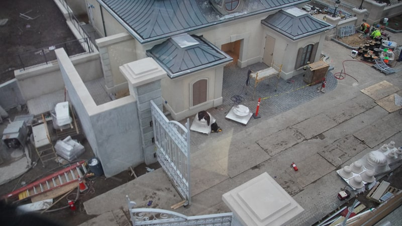 France pavilion construction update February 2020 backstage gate 2