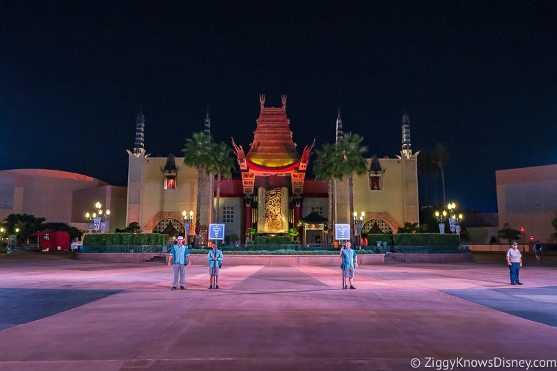 Disney's Hollywood Studios in front of the Chinese Theater early morning