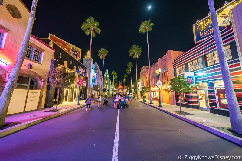Disney's Hollywood Studios Hollywood Blvd Early Morning