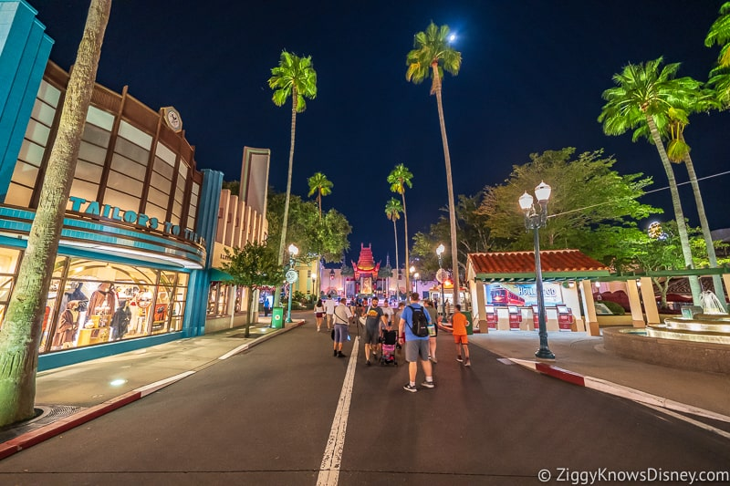 touring Disney's Hollywood Studios early in the morning