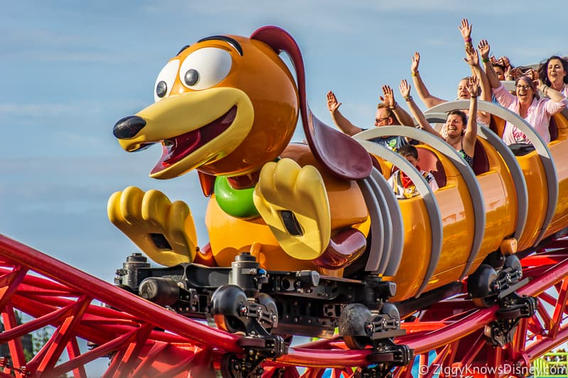 Disney's Hollywood Studios Rides happy guests on Slinky Dog Dash