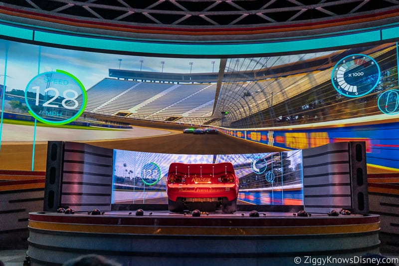 Disney's Hollywood Studios Best Attractions Lightning McQueen's Racing Academy on stage