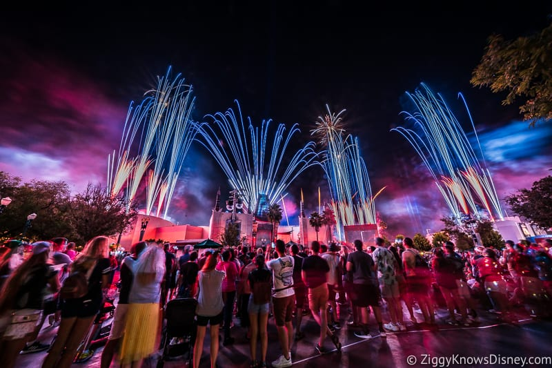 Disney's Hollywood Studios Best Shows Star Wars A Galactic Spectacular Nighttime fireworks