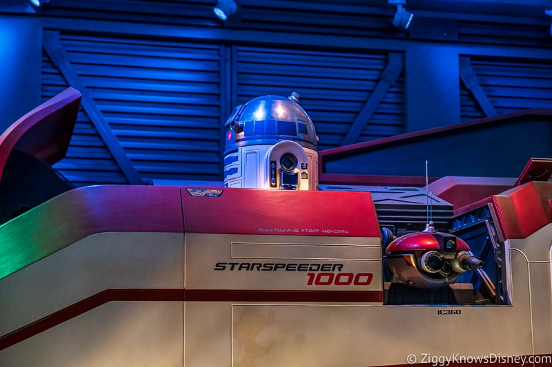 Disney's Hollywood Studios Rides R2-D2 in Star Tours queue