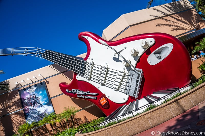 Hollywood Studios rock n roller coaster rope drop