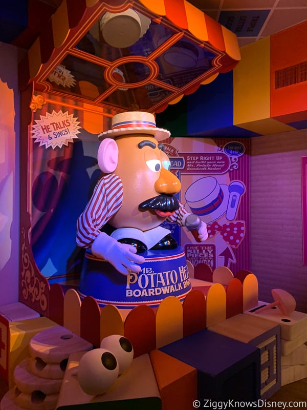 Mr Potato head Toy Story Mania! rope drop Hollywood Studios