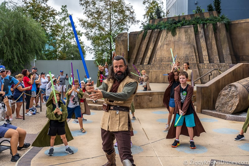 Hollywood Studios rope drop Jedi training academy