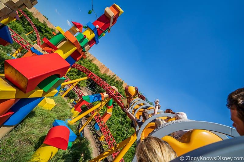 Slinky Dog Dash rope drop Hollywood Studios