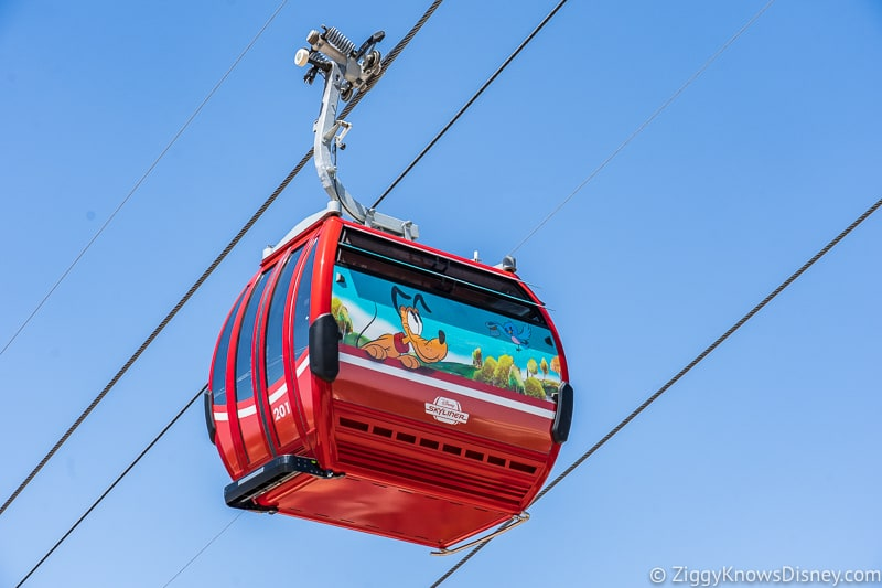 Disney Skyliner above Hollywood Studios