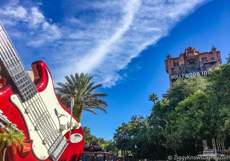 Hollywood Studios Tower of Terror and Rock n roller coaster