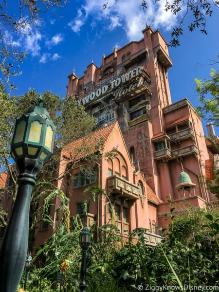 Hollywood Studios Touring Plan outside Tower of Terror