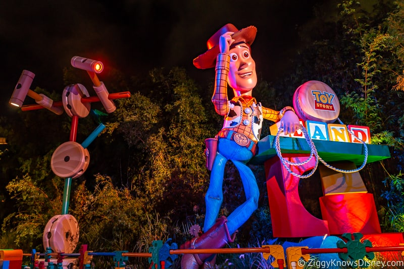 Hollywood Studios Touring Plan Woody Statue Toy Story Land