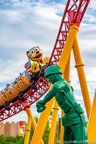 Hollywood Studios Touring Plan slinky dog dash and Green army man