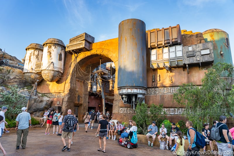 Hollywood Studios Touring Plan outside of Galaxy's Edge Marketplace
