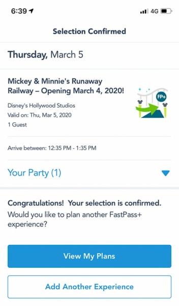 FastPass+ for Mickey and Minnie's Runaway Railway My Disney Experience
