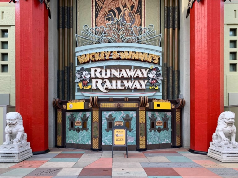 Mickey and Minnie's Runaway Railway Marquee on Chinese Theater