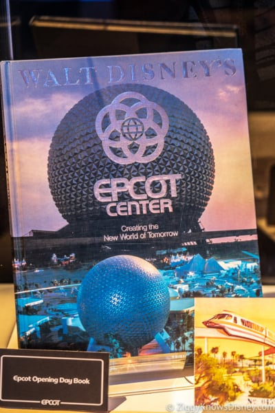 EPCOT Center book with Spaceship Earth