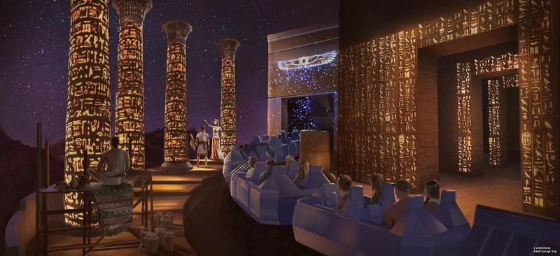 New Egypt Scene in Spaceship Earth refurbishment