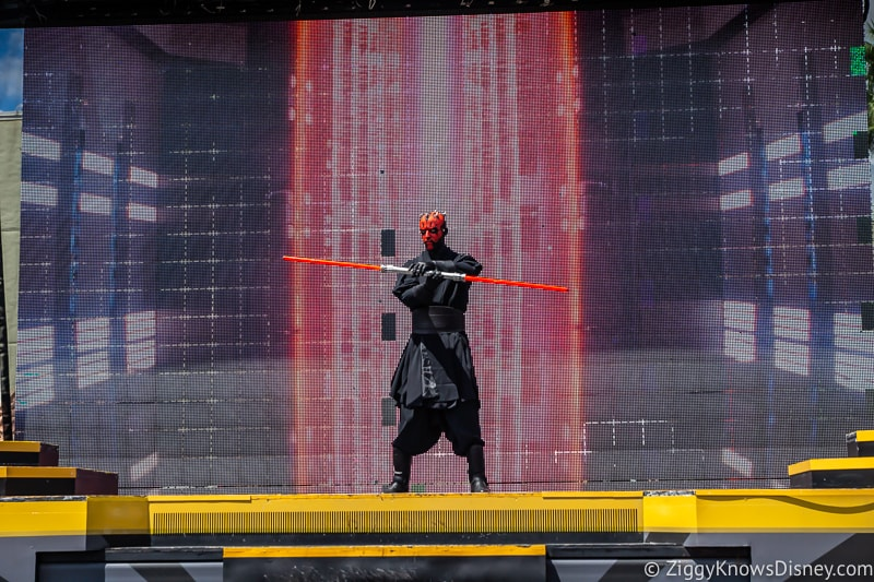 Darth Maul during Star Wars: A Galaxy Far, Far Away