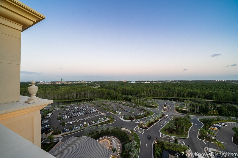 looking over Walt Disney World property from Gran Destino Hotel