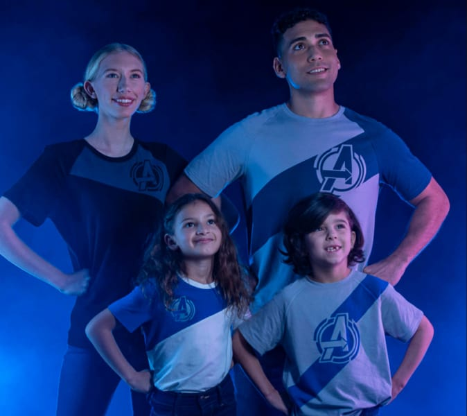 Avengers Campus t-shirts