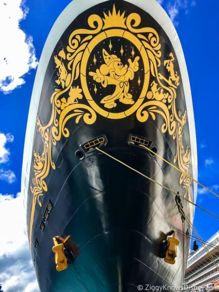 front of Disney Magic Coronavirus Disney Cruise Line