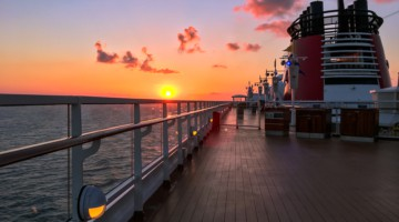 Sunset over the Disney Magic Coronavirus Disney Cruise Line