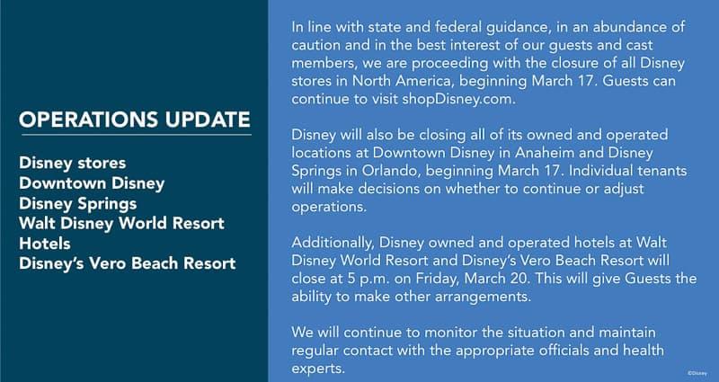 Disney Springs closing