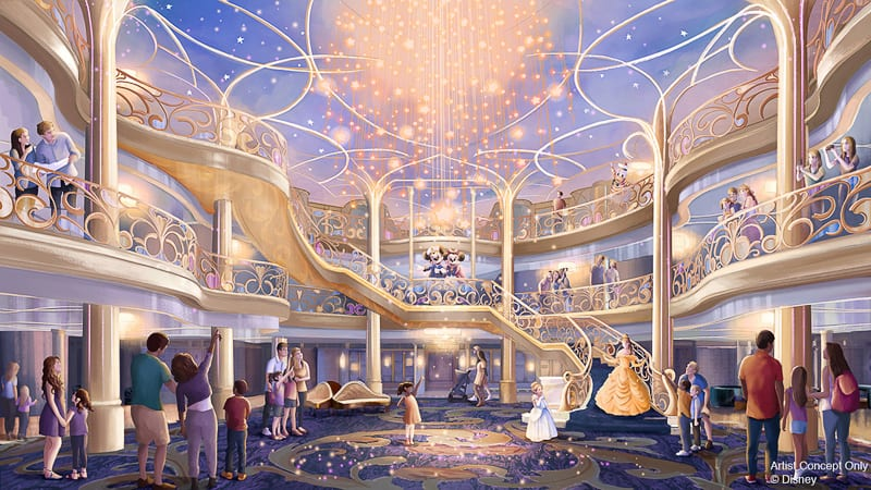 Disney Wish interior concept art Disney Cruise Line