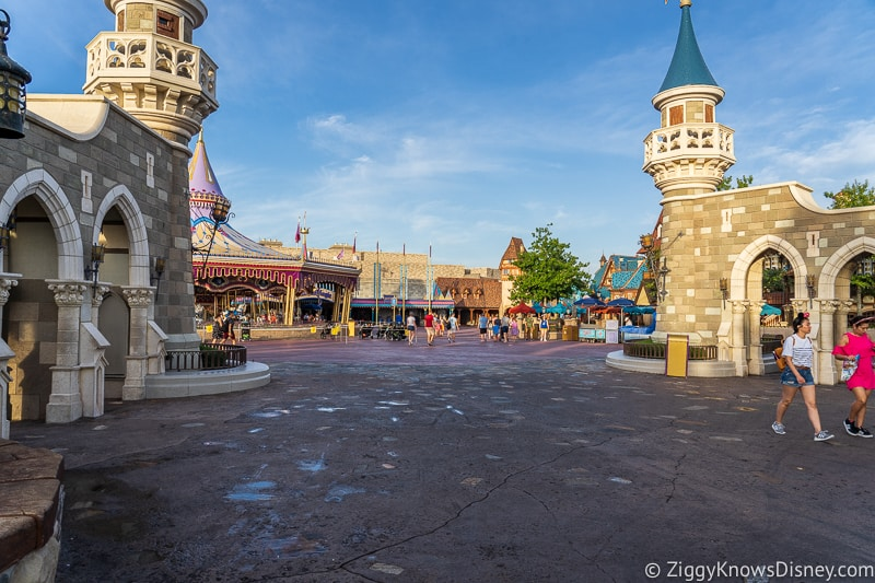 Magic Kingdom empty Fantasyland