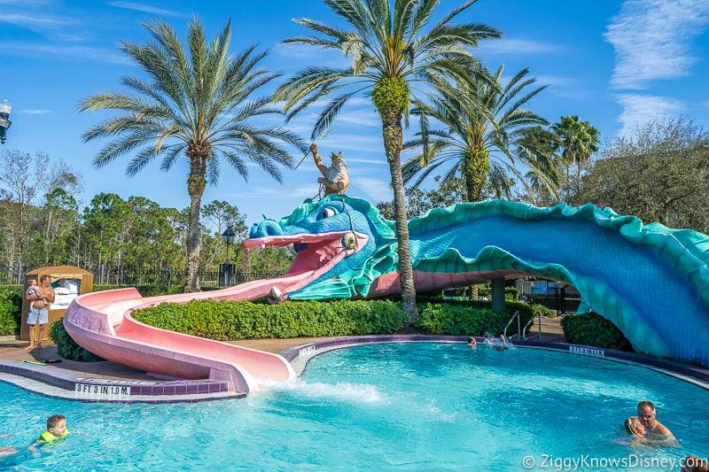 Dragon slide Port Orleans Resort