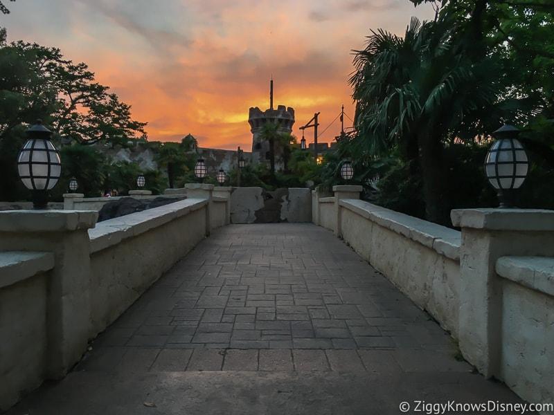 Disneyland Paris closure sunset