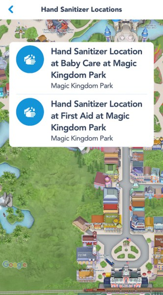 My Disney Experience Hand Sanitizing Info Disney World 1