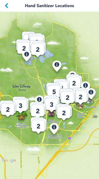 My Disney Experience Hand Sanitizing Info Disney World 3