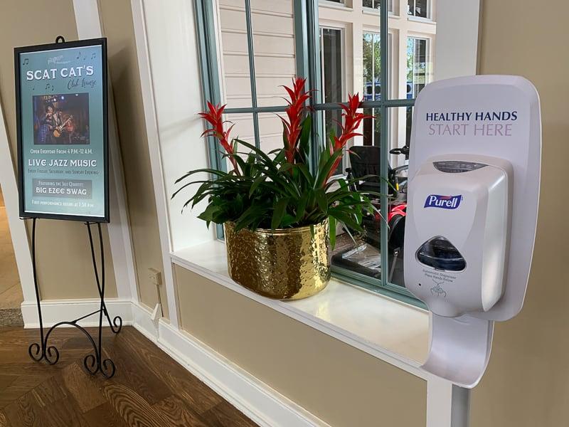 hand sanitizer in Disney World hotels for coronavirus