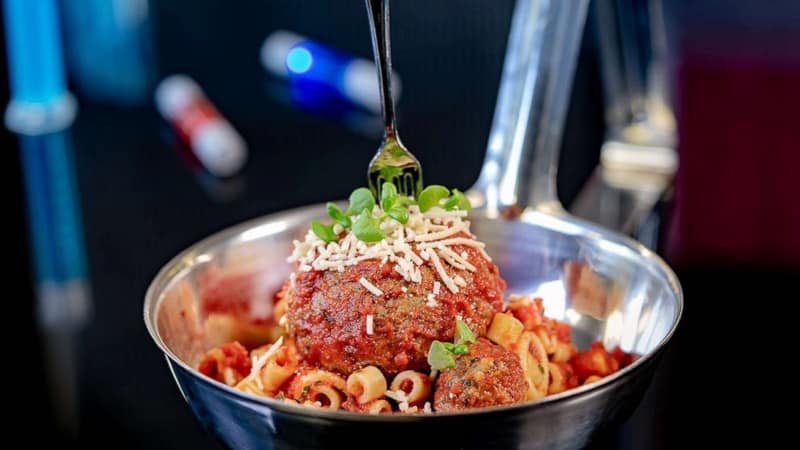 Plant-based Meatballs from Pym Test Kitchen in Avengers Campus