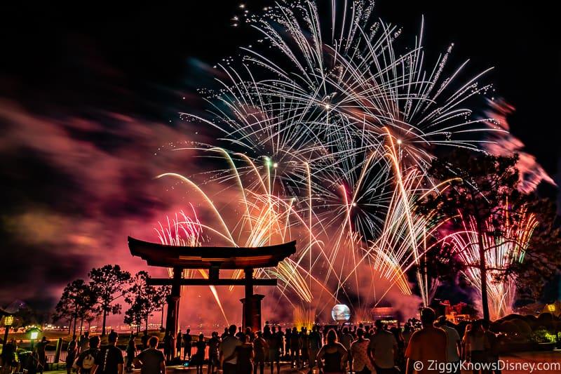 Epcot fireworks in November Disney World