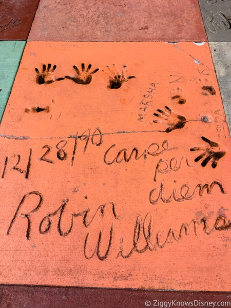 Robin Williams footprints Chinese Theater
