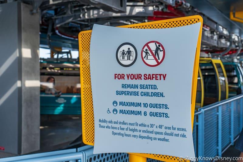 Disney Skyliner Gondola capacity