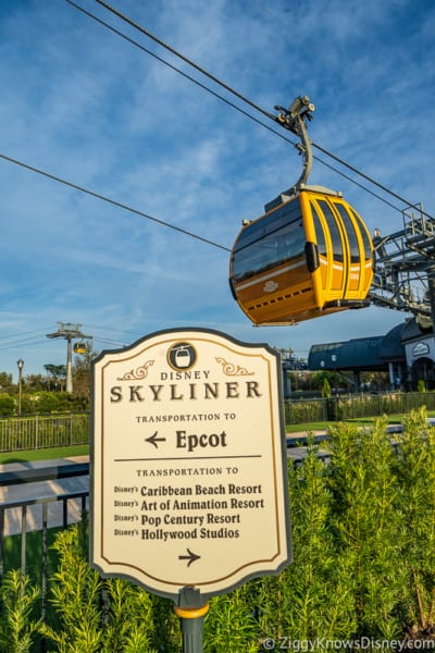 Disney Skyliner Gondola queue
