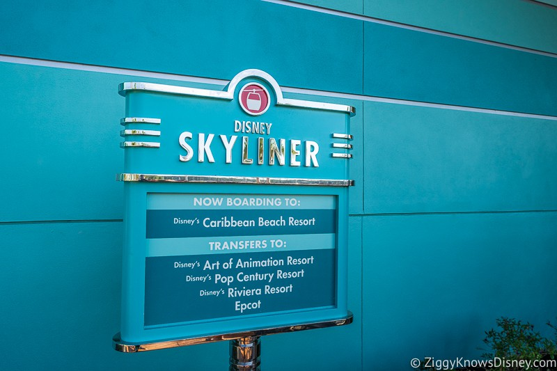 Disney Skyliner Gondola Sign at Hollywood Studios Station
