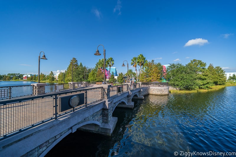 Walkway to Disney Skyliner station Art of Animation