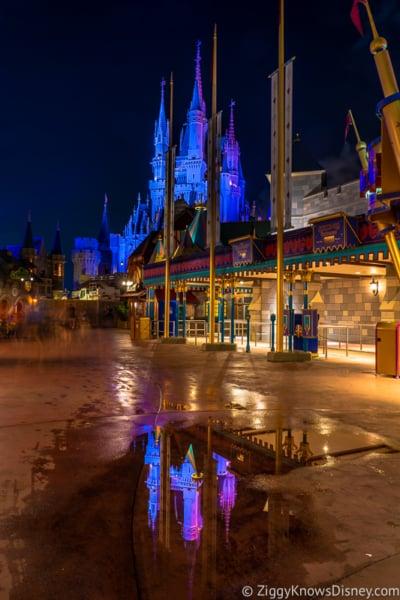 Fantasyland at night
