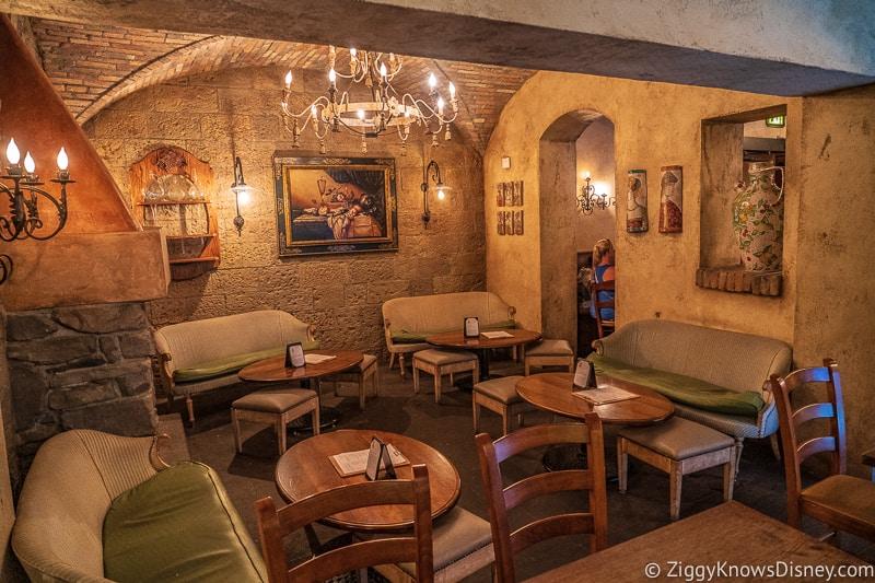 empty restaurant in Epcot