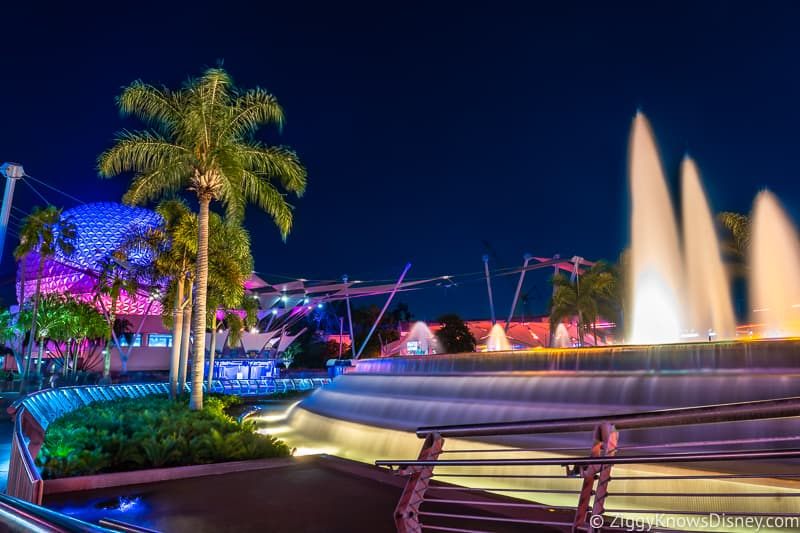 Epcot at night Disney World Crowd Calendar