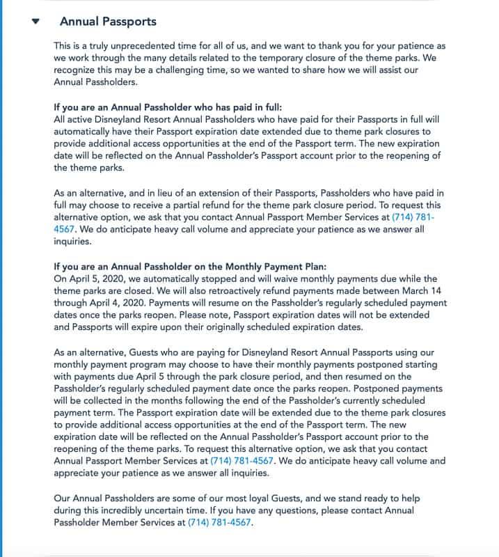 Disneyland statement annual passport
