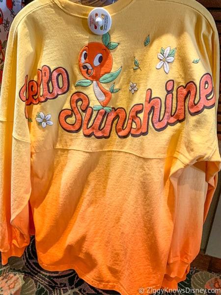 Orange Bird Shirt Flower and Garden