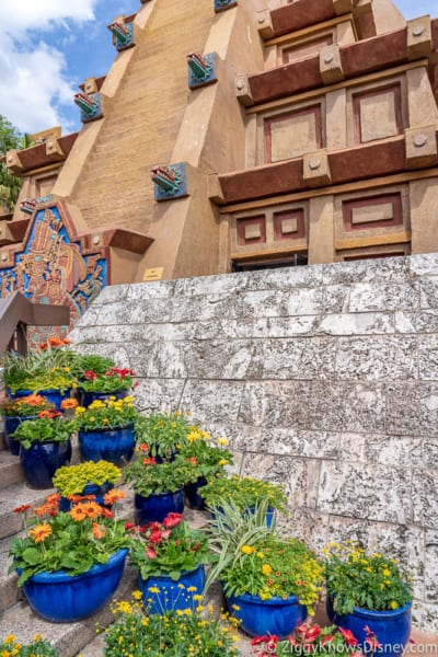 Mexico pyramid Epcot Flower and Garden Festival