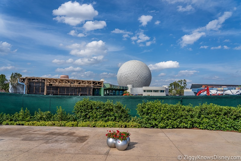 construction wall during Epcot Flower and Garden Festival
