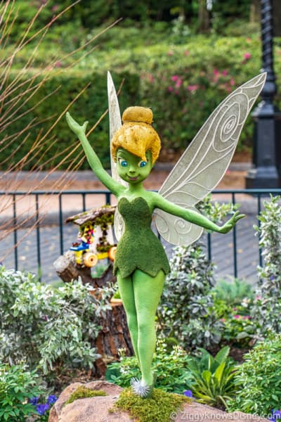 Tinker Bell Topiary United Kingdom Epcot